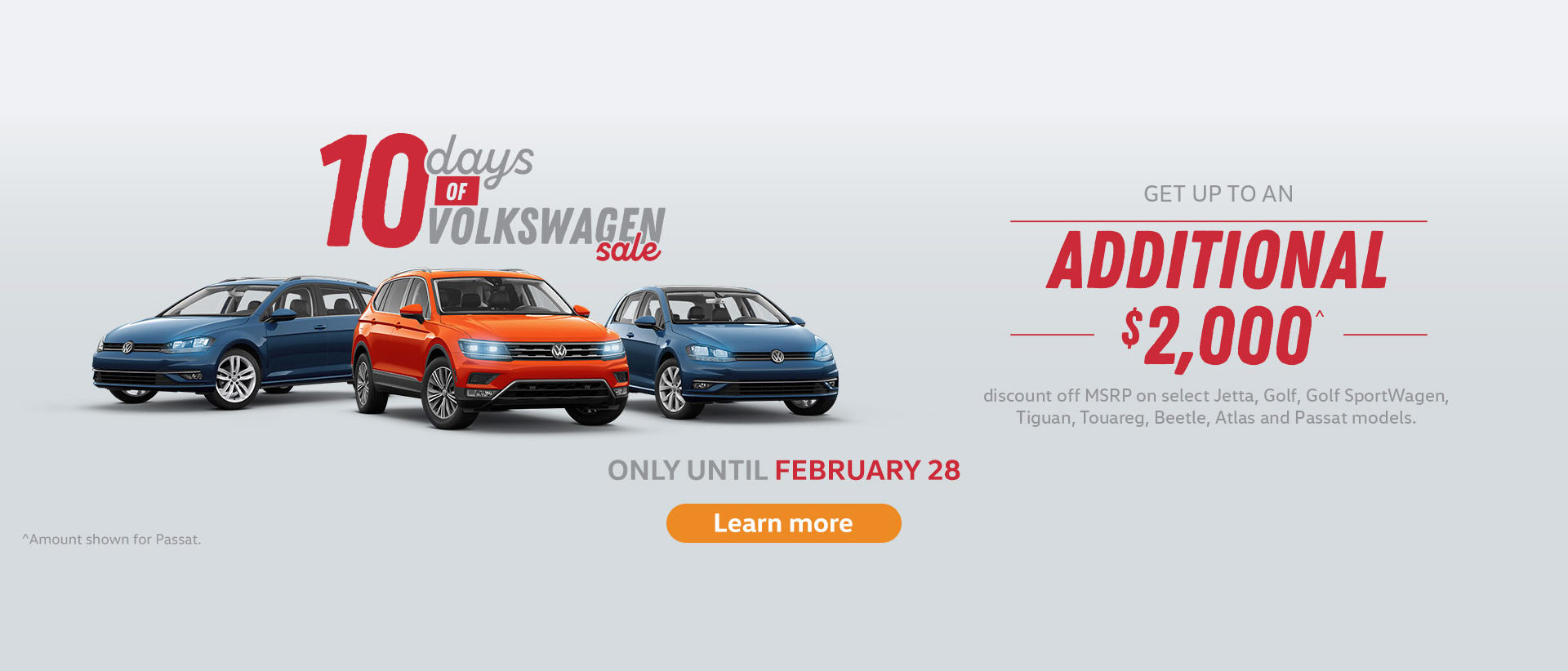 Volkswagen 10 Day Sale Ontario